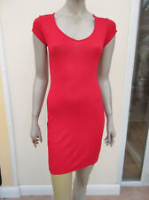Boohoo - Womens Red Jersey Short Sleeved Casual T Shirt Dress - size 10