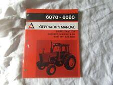 Allis-Chalmers 6080 6070 diesel tractor operator's manual w/ wiring diagrams