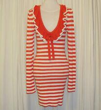 BEAUTIFUL SASS&BIDE IVORY AND ORANGE STRIPED SWEATER DRESS SMALL (AUS 8,US 2)