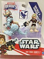 Star Wars Galactic Heroes Playskool Heroes Han Solo & Tauntaun ESB Hoth NIP!