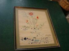 vintage framed PICASSO 1961 lithograph, Fleurs Flowers