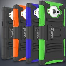 Rugged Holster Kickstand Belt Clip Combo Phone Cover Case for Samsung Galaxy On5