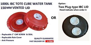 IBC VENTED LID 150MM 1000L WATER CUBE TANK PODS TOTES OPTION TWO HOLES IBC LID