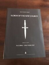 1982 VINTAGE 8X11 PROMO PRINT Ad FOR THE LORDS OF THE NEW CHURCH JOIN NEW CHURCH