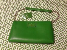 Kate Spade Shoulder And Clutch Bag NWT Masters Green Leather Chain Link Strap