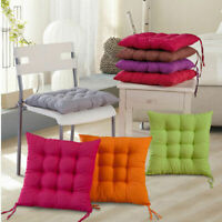 Indoor Room Dining Garden Chair Seat Pads Ties Cushion Quilted Padded Home Decor