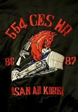 SOUVENIR Bomber Jacket Osan AB Korea  Embroidered Black/Red Size Large Name: RON