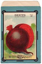 VINTAGE SEED PACKET BEET BLOOD TURNIP ADVERTISING 1915 GARDENING GENERAL STORE