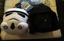 Nwt Plush Star Wars Darry Vader Storm Trooper Backpack Hanger Clip Coin Purses