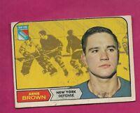 1968-69 OPC # 68 RANGERS ARNIE BROWN  VG CARD (INV# A5561)