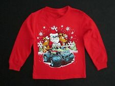 Class Club Toddler Little Boys 4/5 Long Sleeve Red Santa Driving 4-Wheeler Tee