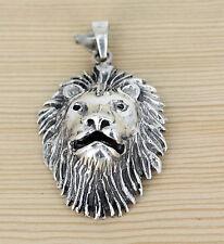 bezaubernd Herrn Anhänger Schmuck Silber - Lion - Löwe - Löwenkopf - Lowe -Tier