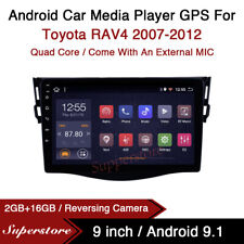 """9"""" Android 9.1 Car Stereo Media Player GPS Head Unit For Toyota RAV4 2007-2012"""