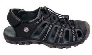 Mens All Terrain Sandals Hiking Aqua Water Shoes Black