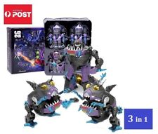 Transformers G1 Style Sharkticon Team 3 In 1