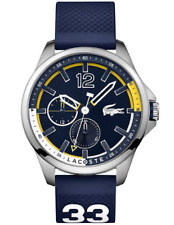 ★ LACOSTE Capbreton 2010897 Chronograph Blue Silicone Strap Men's Watch ★