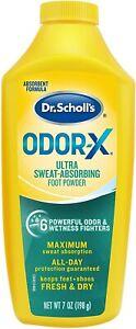 Dr. Scholls ODOR-X Foot POWDER 7oz  NEW LOOK!