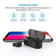 True Bluetooth Wireless Earbuds Luxury Sweatproof Headphones Mic & Nano Coating