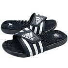 Adidas 078261: Adissage Slides NAVY/White Heath Massage Slipper Sandal for Adult