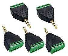 4 Pole 3.5mm Screw Terminal 3.5mm (1/8) Stereo TRRS Audio to AV 4 Pin Male