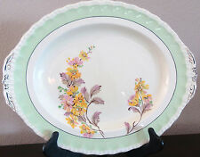 "Antique Grindley England Cream Petal 14 1/2""  Oval Serving Platter Daisy No 2"