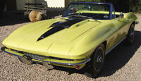 1967 Vette Corvette Chevy Vintage Sport Car Race 1 12 Exotic Carousel Yellow 18