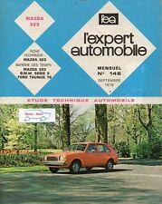 Revue Technique Automobile - Mazda 323 - N° 146 - Septembre 1978 - 120 pages