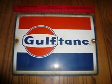 "Porcelain Antique ""Golftane"" Gasoline Gas Pump Sign  Circa 1950,1960,1970"