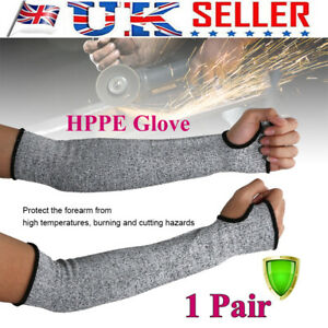 1 Pair Safety Protective Arm Sleeve Guard Cut Proof Anti Cut-Resistant Gloves UK