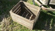 EUROPEAN VINTAGE WOODEN APPLE BOX / CRATE - SHELVES STORAGE BOOKCASE DISPLAY....