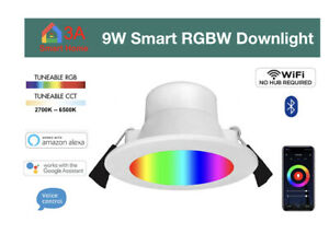 24 x 9W WiFi Smart RGBW LED Downlight for Automation, Alexa Google Home Control