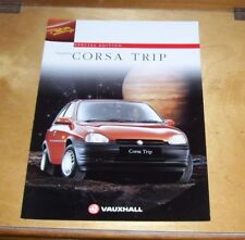 VAUXHALL CORSA TRIP SPECIAL EDITION SALES BROCHURE MARCH 1996 V10420 EURO 96