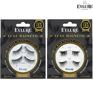 Eylure MAGNETIC MINK EFFECT False Reusable Eyelashes Lash Extra Volume + Curl