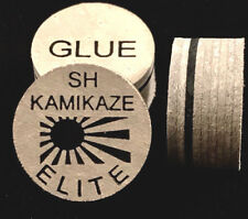 NEW....Kamikaze ELITE Layered Cue Tips  14 MM  (SH) (3 Tips)  Fast Shipping.