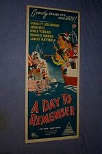 Original A DAY TO REMEMBER insert daybill Stanley Holloway
