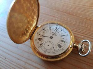 Vintage pocket watch Moeris Grands Prix Full Hunter, Unitas 6498 for repair