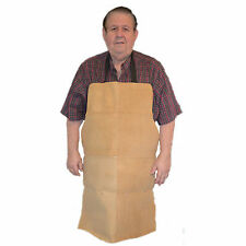 HAWK AL001A - Genuine Tan Leather Shop Apron Woodworking, Shop Use, Welding