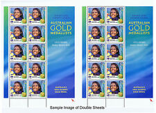 Australian Olympics 2000 Medalists 16 Double Sheets with Offset Backing Sheets