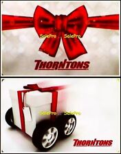 2x THORNTONS CHRISTMAS PRESENT ON WHEEL BOW SNOWFLAKE COLLECTIBLE GIFT CARD LOT