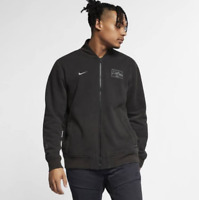 Nike Sportswear Fleece Utility Jacket Std Fit BV3077-010 Black  Mens S M XL