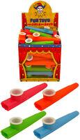 Childrens toy Plastic KAZOO Music Maker 4 Assorted Colours 11cm