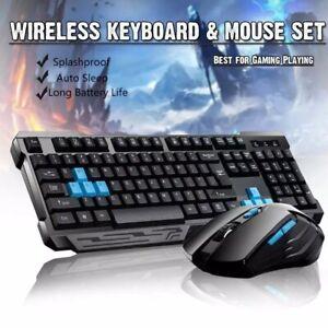 Gaming Tastatur Wireless Maus Set Gamer USB Keyboard Mouse Für Laptop Computer