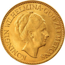 [#895107] Coin, Netherlands, Wilhelmina I, 10 Gulden, 1933, MS(63), Gold, KM:162