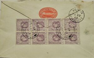 """MAURITIUS1948 COVER """"TO HIS EXCELLENCY THE GOVERNOR OF SEYCHELLES FE 22 38"""