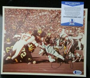 ROB LYTLE MICHIGAN WOLVERINES SIGNED 8x10 PHOTO BECKETT BAS COA X41377