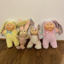 Cabbage Patch Kids Vintage 80's 90's Easter Bunny Dolls, Mixed Lot Of 4