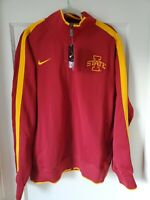 New Iowa State Track Jacket Nike Men's Size 2XL Football Zip Up Red Yellow XXL