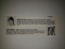 Johnny Callison Dick Farrell Tony Taylor Gary Wagner 1969 Phillies MLB CO Panel