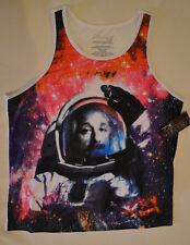 Albert Einstein Astronaut Tank Top T-shirt Space Men's  XL outer space stars