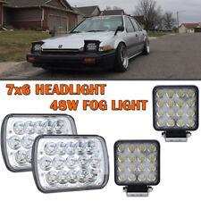 2PCS LED Headlight H4 Sealed Headlamp for International 9400 VW Rabbit truck